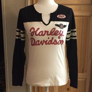 🦋 Harley-Davidson Long Sleeve T-shirt Sz M